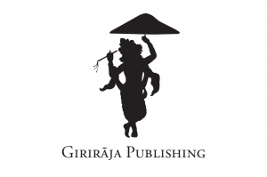Logo shows Krishna lifting Govardhan Hill with one finger